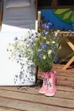 Blumenstrauß der wilden Blumen Stockfotografie