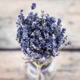 Blumenstrauß des getrockneten Lavendels Lizenzfreies Stockbild