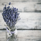 Blumenstrauß des getrockneten Lavendels Lizenzfreie Stockbilder