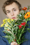 Blumenstrauß des jungen Mannes blüht 2 Lizenzfreie Stockbilder
