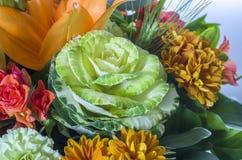 Blumenstrauß des Kohls Lizenzfreie Stockfotos