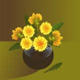 Blumenstrauß des Löwenzahns Lizenzfreie Stockfotos