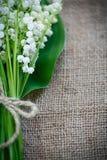 Blumenstrauß des Maiglöckchenblühens Lizenzfreie Stockbilder