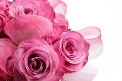 Blumenstrauß des Rosas stieg Stockbild