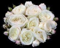 Blumenstrauß des Rosen-Ausschnitts Stockbild