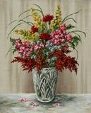 Blumenstrauß in einem Kristallvase Lizenzfreie Stockbilder