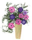 Blumenstrauß in einem Vase trockenen Blumen Lizenzfreie Stockfotos