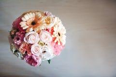 Blumenstrauß, Hochzeit, Braut, Hintergrund Stockbild