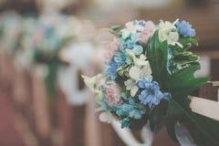 Blumenstrauß-Hochzeit verzieren Lizenzfreie Stockbilder