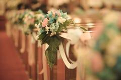 Blumenstrauß-Hochzeit verzieren Lizenzfreies Stockbild