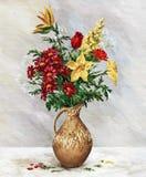 Blumenstrauß im Krug Stockfoto