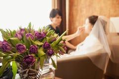 Blumenstrauß im Vase Lizenzfreies Stockbild