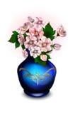 Blumenstrauß mit Anemonen im Vase Stockfotografie