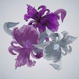 Blumenstrauß mit Iris Lizenzfreie Stockfotos