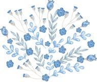 Blumenstrauß mit schönen kleinen Blaufloridas Stockfotografie