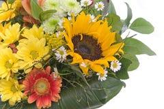 Blumenstrauß mit Sonnenblume Stockfotos