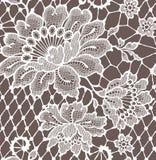 Blumenstrauß-Spitze-nahtloses Muster stock abbildung