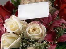 Blumenstrauß und Karte 4 Lizenzfreies Stockfoto