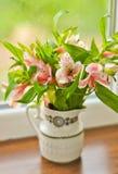 Blumenstrauß von Alstroemeria Stockfotos