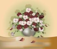Blumenstrauß von Blumen stock abbildung