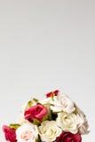 Blumenstrauß von Blumen auf Weiß Stockbilder
