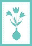 Blumenstrauß von Blumen, Karte für Laser-Ausschnitt Lizenzfreie Stockfotografie