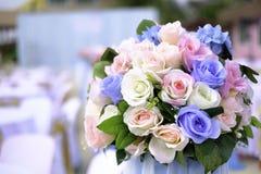 Blumenstrauß von Blumen und von Hochzeit Stockfoto