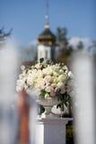 Blumenstrauß von bunten frischen Rosen Lizenzfreies Stockbild