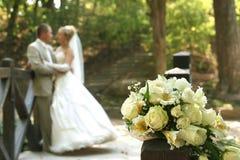Blumenstrauß von den Rosen Stockfotografie