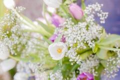 Blumenstrauß von Frühlingsblumen Stockfoto