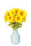 Blumenstrauß von hellen gelben Sonnenblumen Lizenzfreies Stockbild