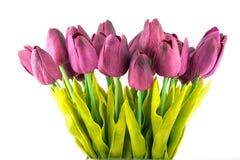 Blumenstrauß von künstlichen Tulpen Stockfotografie