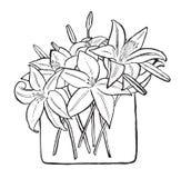Blumenstrauß von Lilien Stockfotos