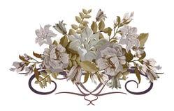 Blumenstrauß von Pastellblumen weinlese Lizenzfreie Stockfotos