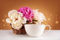 Blumenstrauß von Pfingstrosen Stockfoto