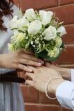 Blumenstrauß von Rosen. Stockfoto