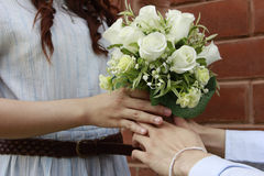 Blumenstrauß von Rosen. Lizenzfreies Stockbild