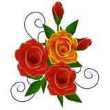 Blumenstrauß von Rosen Lizenzfreies Stockfoto