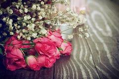 Blumenstrauß von Rosen Stockfotos