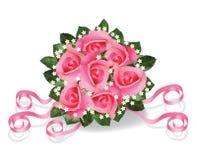 Blumenstrauß von Rosen stock abbildung