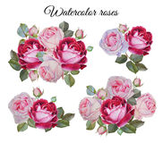 Blumenstrauß von Rosen Blumen eingestellt Stockbild