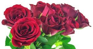 Blumenstrauß von roten Rosen Lizenzfreies Stockbild