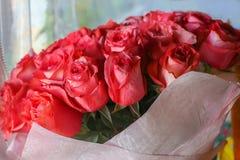 Blumenstrauß von roten Rosen Lizenzfreie Stockfotografie