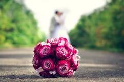 Blumenstrauß von roten Rosen Lizenzfreie Stockfotos