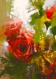 Blumenstrauß von roten Rosen stock abbildung