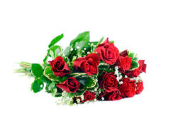 Blumenstrauß von roten Rosen stockfotos
