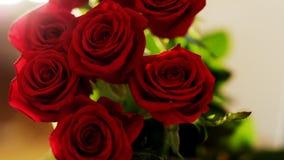 Blumenstrauß von roten Rosen Lizenzfreies Stockfoto