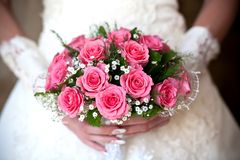 Blumenstrauß von Rouses Stockfotos