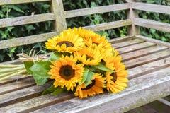 Blumenstrauß von Sonnenblumen Lizenzfreie Stockfotos