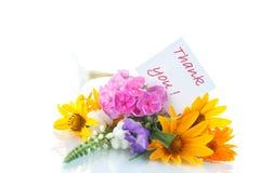 Blumenstrauß von verschiedenen Blumen Stockfotos